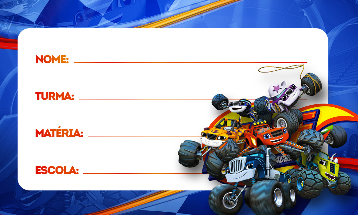 Etiqueta Volta as Aulas Blaze and Monster Machines 55