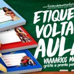 Etiqueta Volta as Aulas Gratis para Imprimir