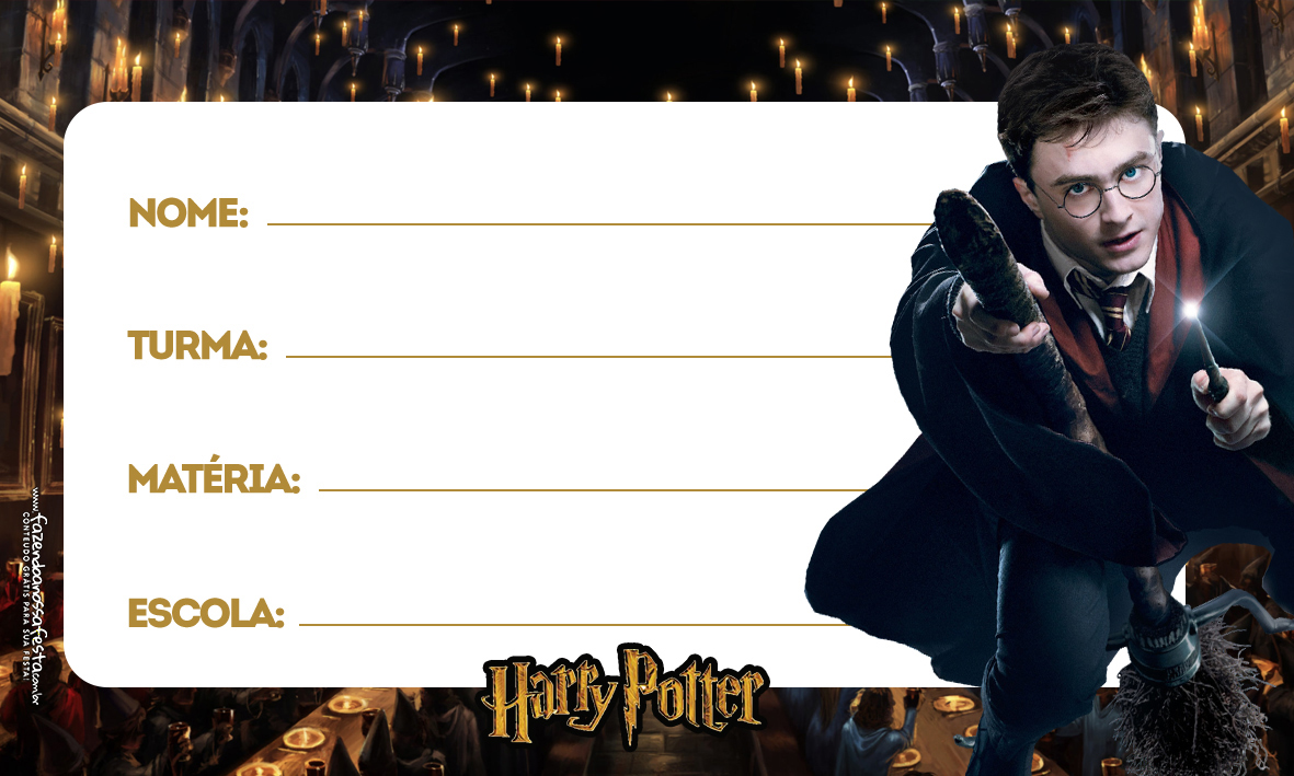 Etiqueta Volta as aulas Harry Potter 2