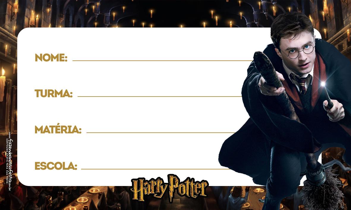 Etiqueta Volta as aulas Harry Potter 2
