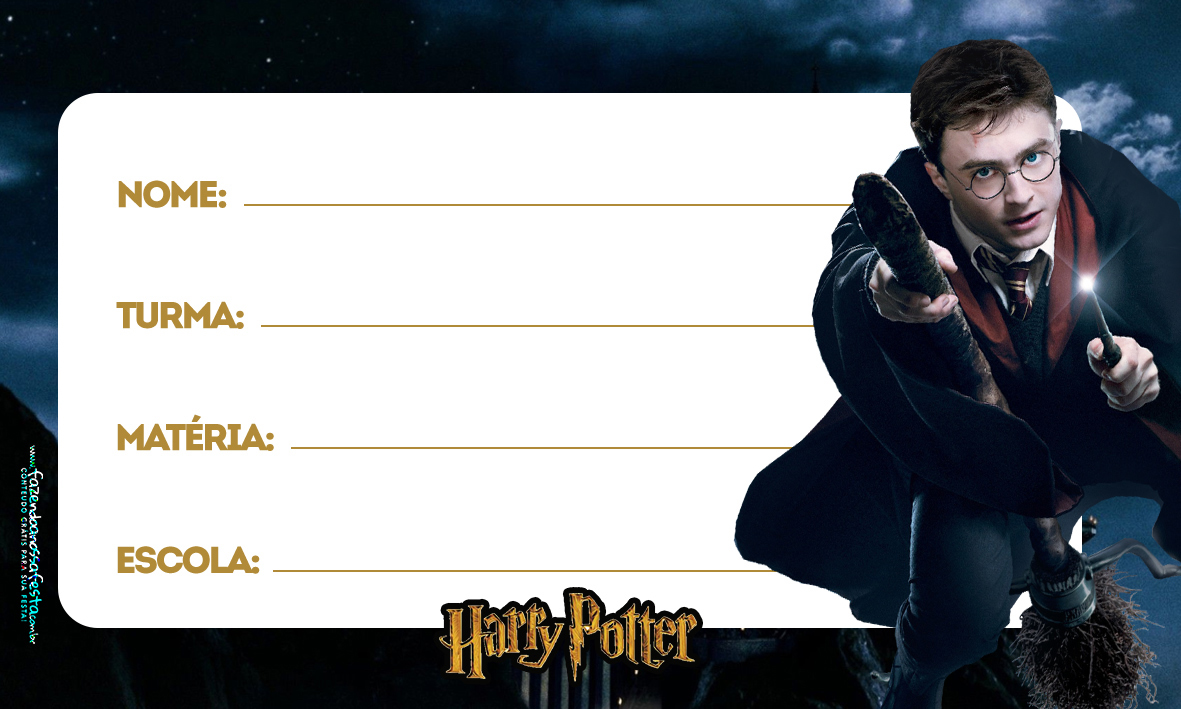 Etiqueta Volta as aulas Harry Potter 4