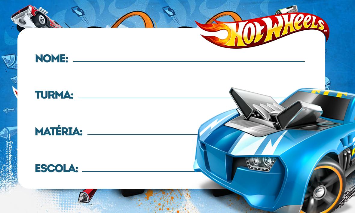 Etiqueta Volta as aulas Hot Wheels 4