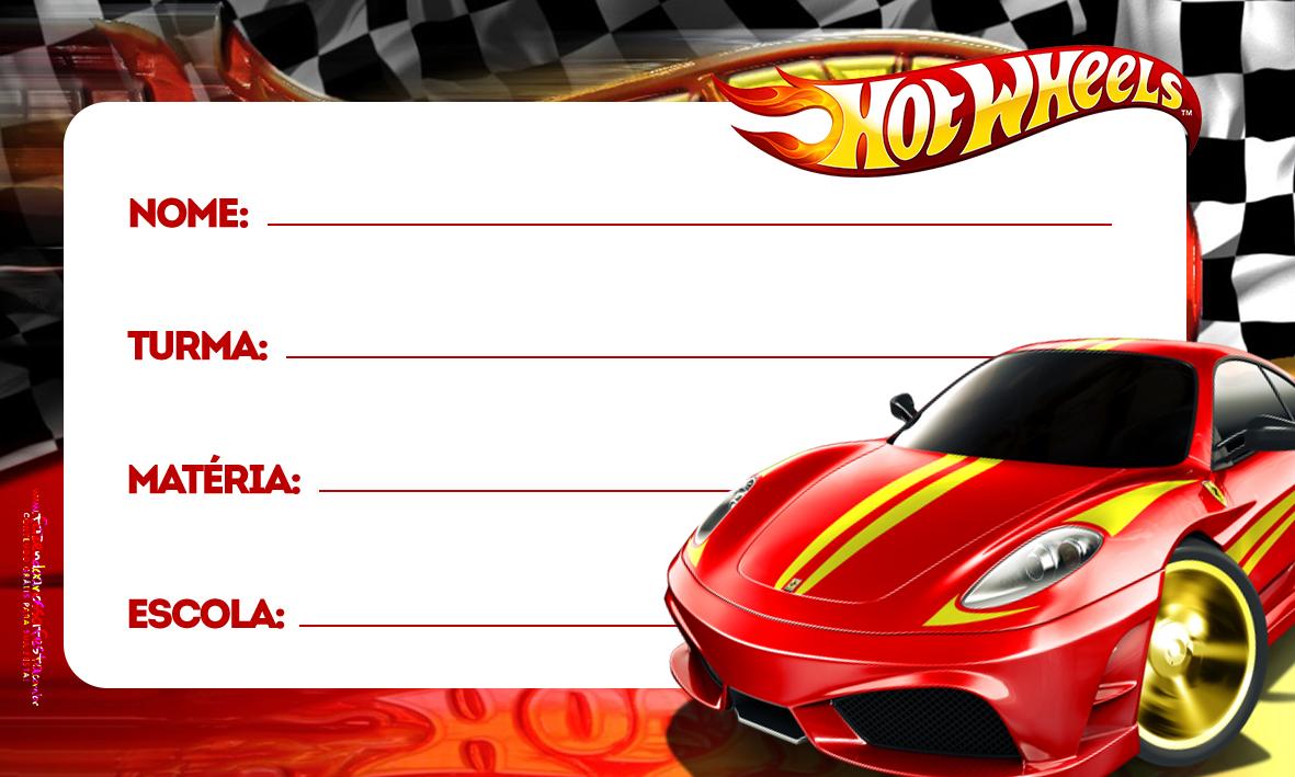 Etiqueta Volta as aulas Hot Wheels
