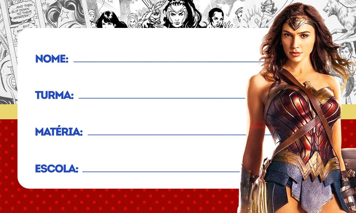 Etiqueta Volta as aulas Mulher Maravilha filme 2