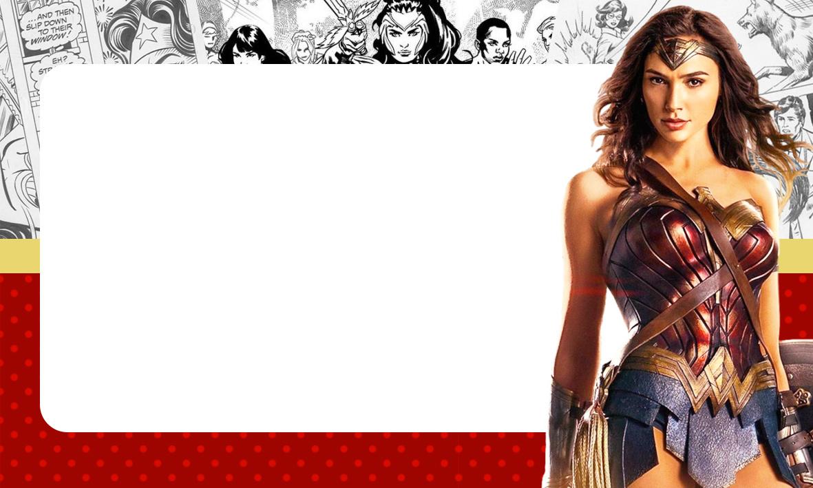 Etiqueta Volta as aulas Mulher Maravilha filme