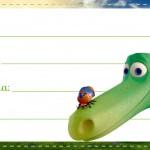 Etiqueta Volta as aulas O bom Dinossauro
