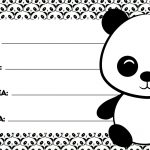 Etiqueta Volta as aulas Panda fofo