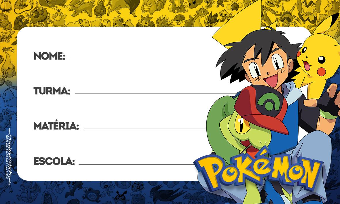 Etiqueta Volta as aulas Pokemon
