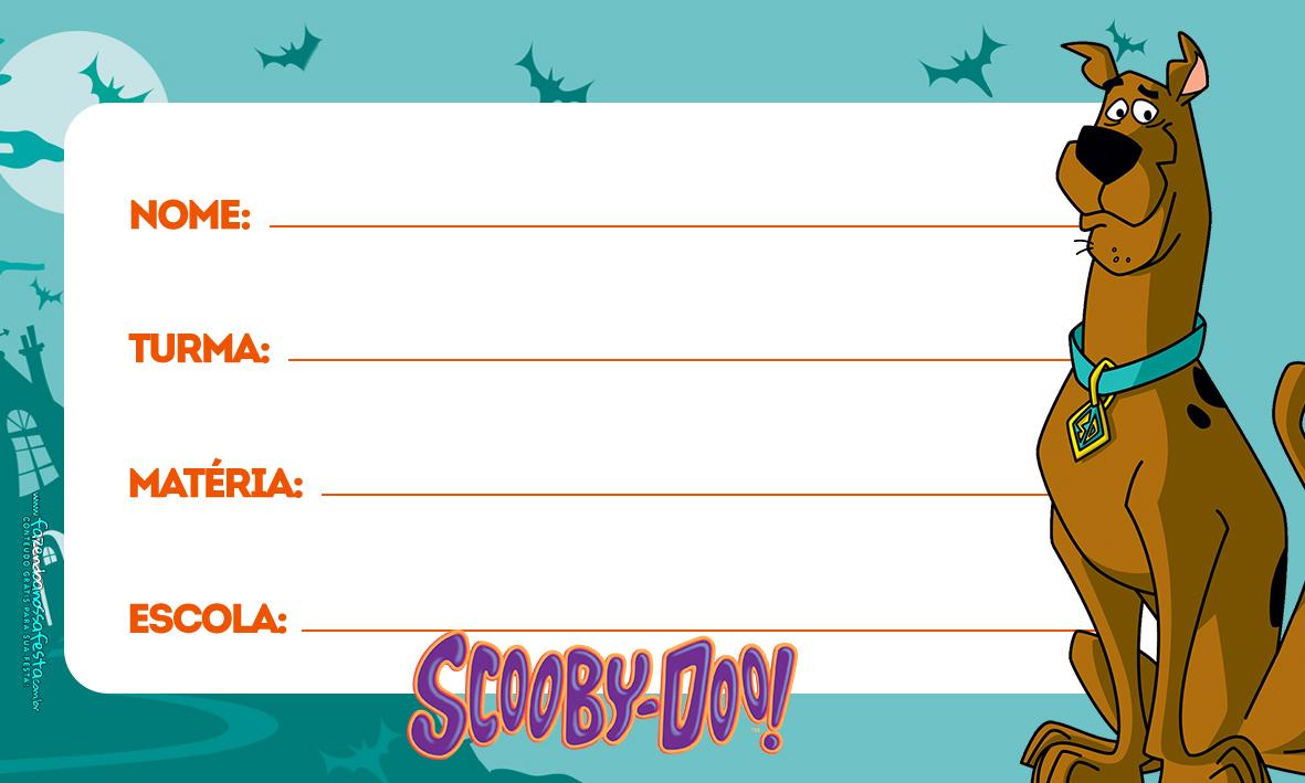 Etiqueta Volta as aulas Scooby doo 2