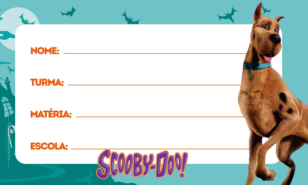 Etiqueta Volta as aulas Scooby doo 4