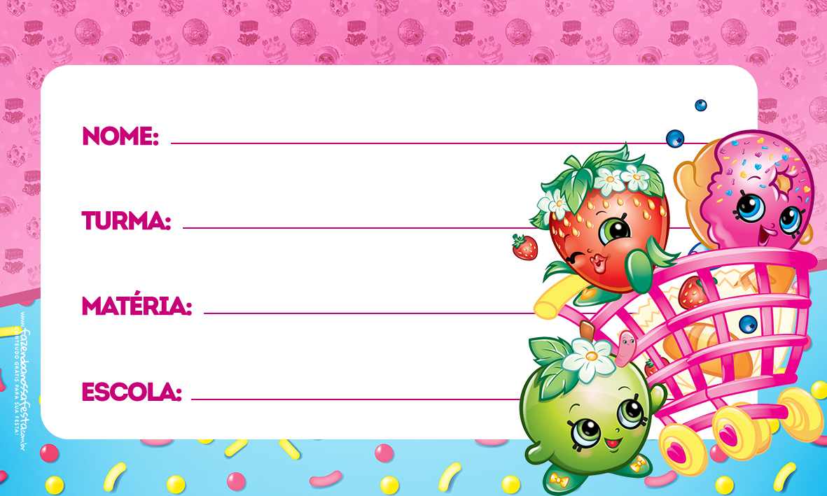 Etiqueta Volta as aulas Shopkins 2