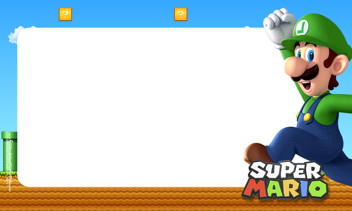 Etiqueta Volta as aulas Super Mario Luigi 1