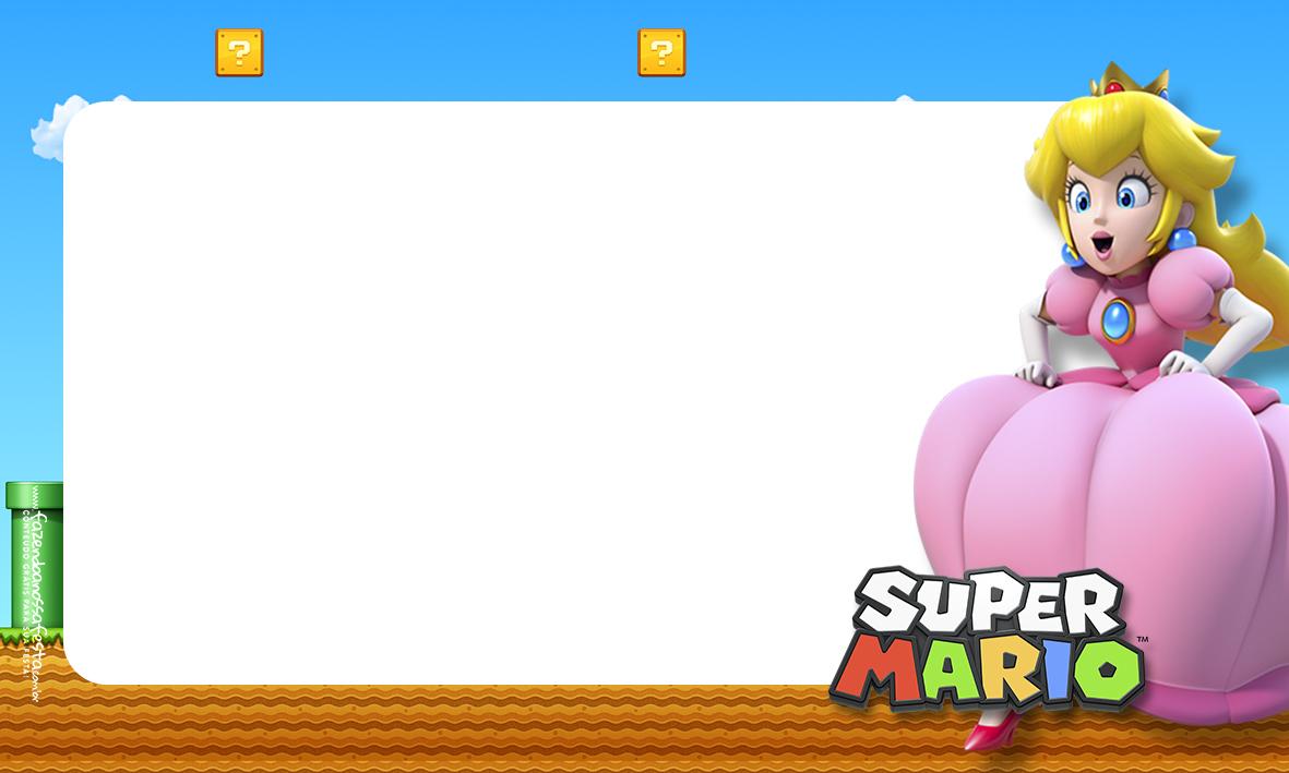 Etiqueta Volta as aulas Super Mario Princesa 2