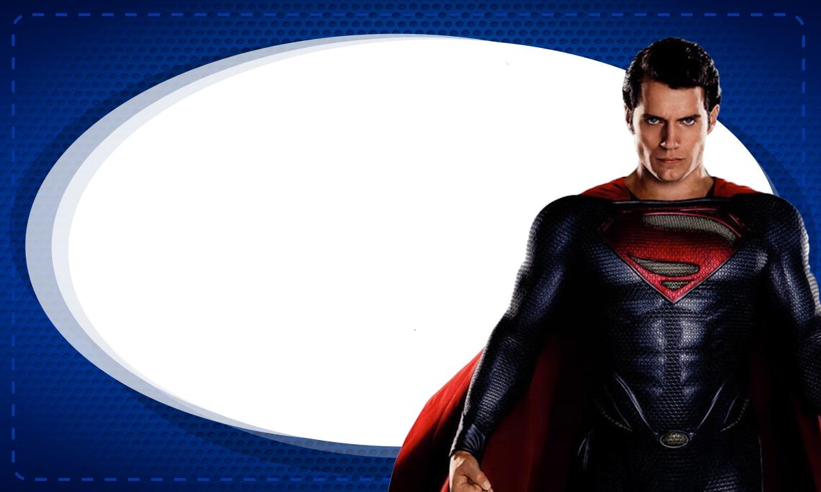Etiqueta de Volta as Aulas Super Homem 2