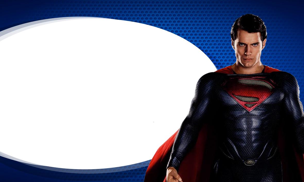 Etiqueta de Volta as Aulas Super Homem 3