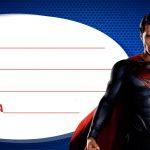 Etiqueta de Volta as Aulas Super Homem 4