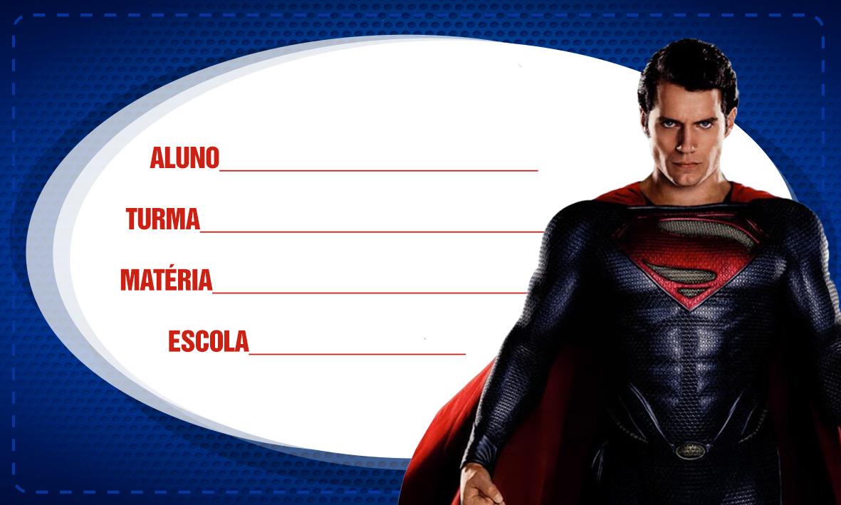 Etiqueta de Volta as Aulas Super Homem