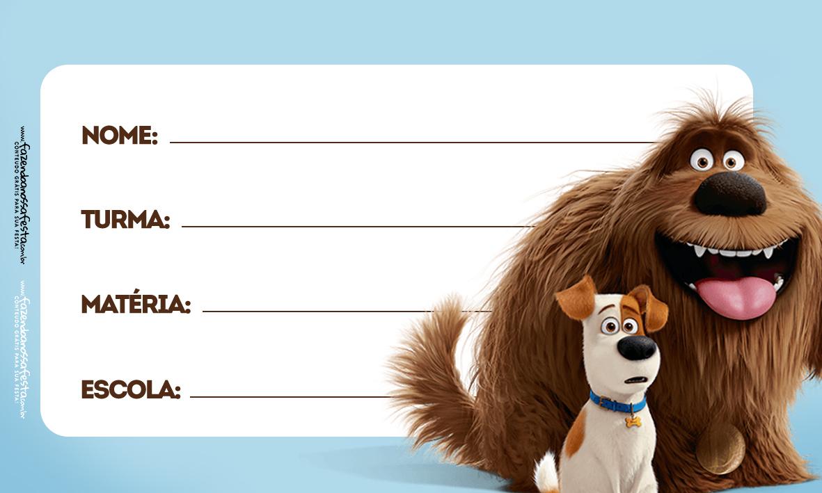 Etiquetas Escolar Volta as Aulas Pets 2