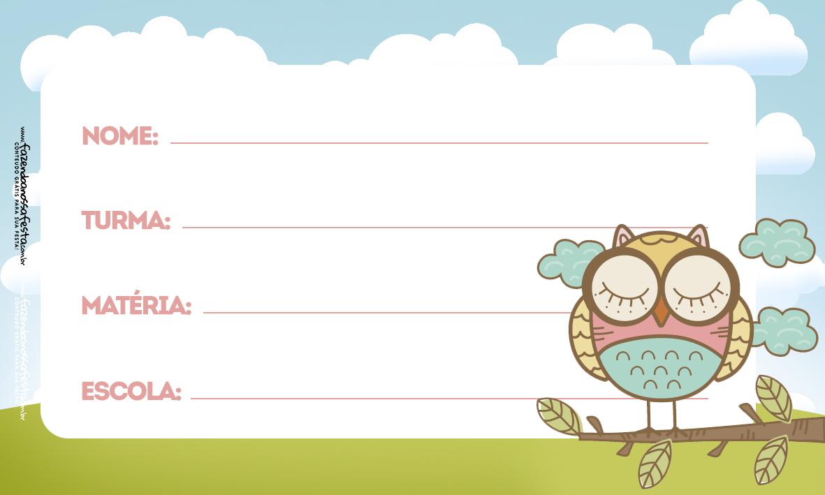 Etiquetas Escolar Volta as Aulas Corujas-3-3