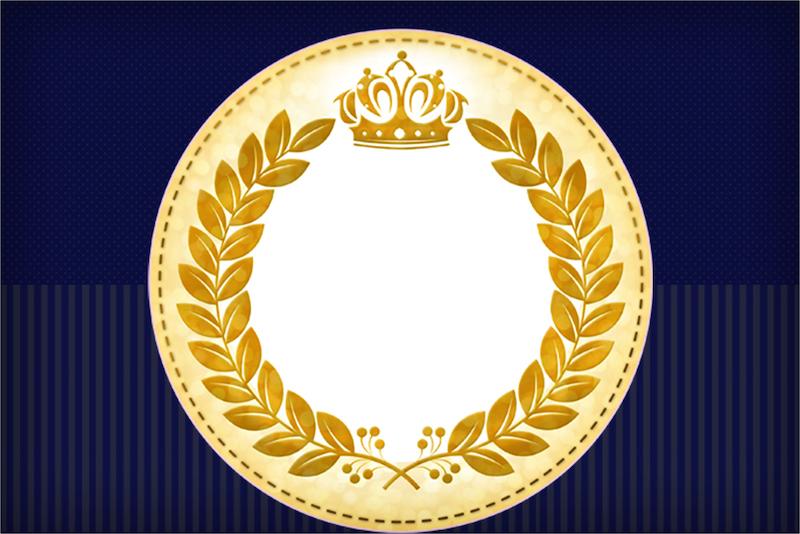 Convite Coroa Príncipe Azul Marinho