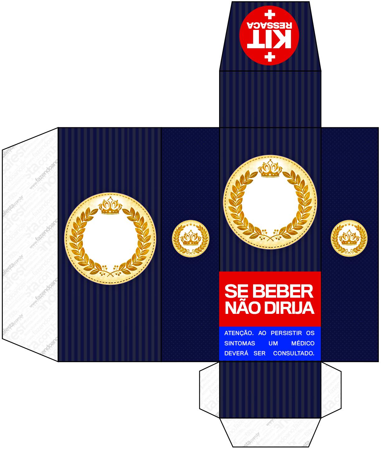 Completo Coroa de Principe Azul Marinho 114 Fazendo a Nossa Festa #0119CA 1224x1442 Banheiro Azul Marinho