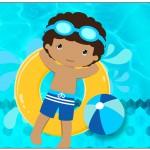 Lata de Leite Pool Party Menino Moreno