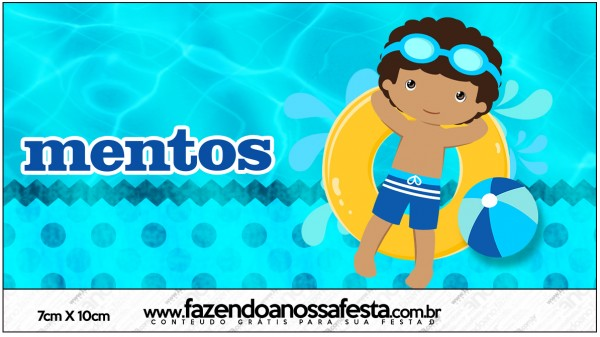 Mentos Pool Party Menino Moreno