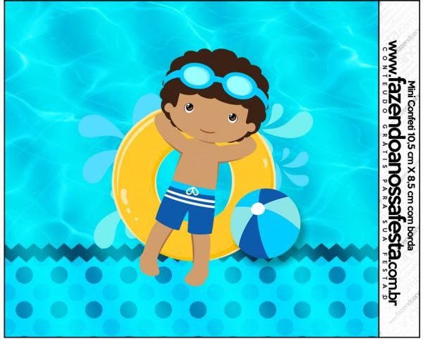 Mini Confeti Pool Party Menino Moreno