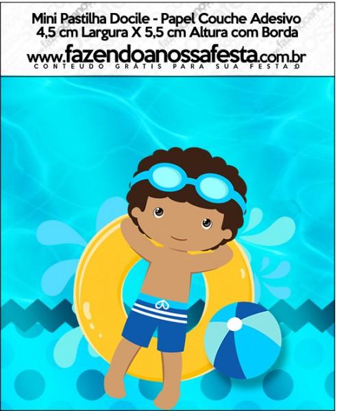 Mini Pastilha Docile Pool Party Menino Moreno