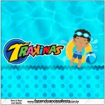 Mini Trakinas Pool Party Menino Moreno