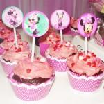 Cupcakes Festa Minnie Rosa da Maria Eduarda