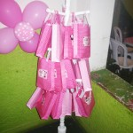 Sacolinha de Lembrancinhas Festa Minnie Rosa da Maria Eduarda