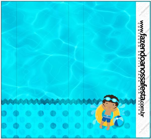 Pirulito Mastigável Pool Party Menino Moreno