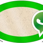 Placa Elipse Whatsapp