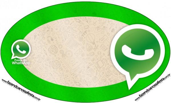 Placa Elipse Whatsapp