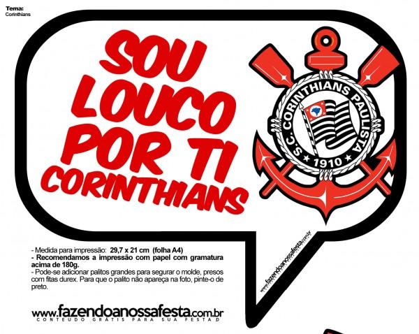 Plaquinhas Divertidas Corinthians