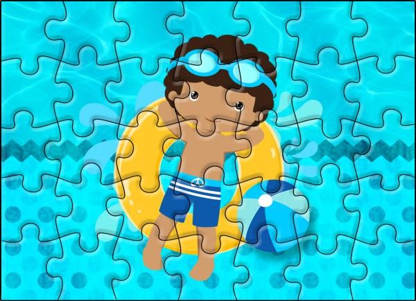 Quebra-cabeça Pool Party Menino Moreno