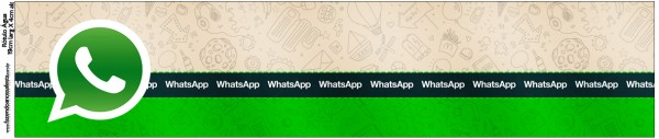 Rótulo Água Whatsapp