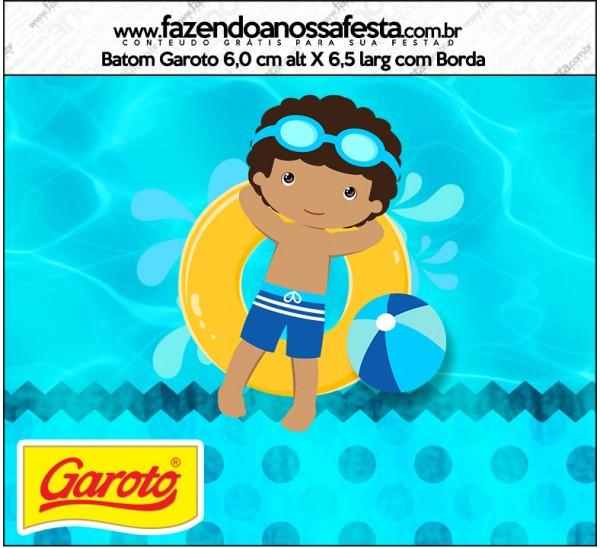 Rótulo Batom Garoto Pool Party Menino Moreno