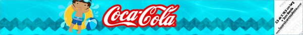 Rótulo Mini Coca-cola Pool Party Menino Moreno