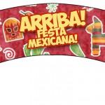 Saias Wrappers para Cupcakes 2 Festa Mexicana