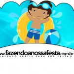 Saias Wrappers para Cupcakes Pool Party Menino Moreno