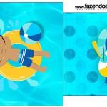 Saquinho de Chá Pool Party Menino Moreno