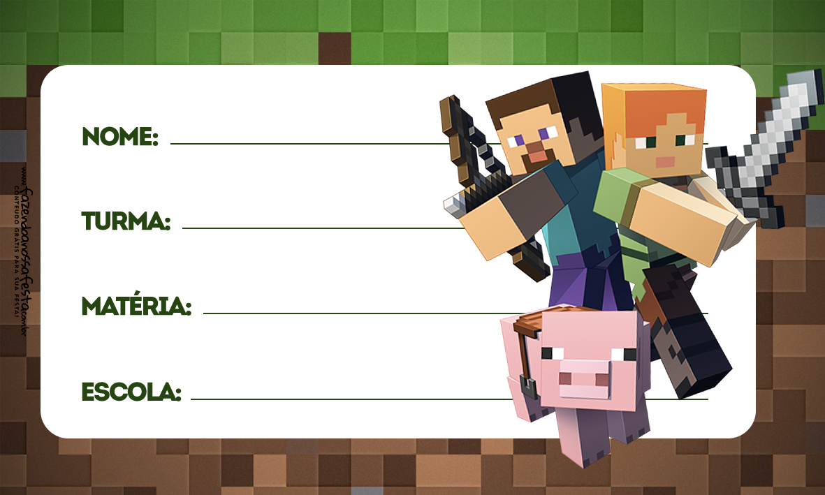 Etiqueta Volta as Aulas Minecraft 2