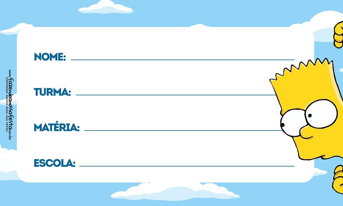 Etiqueta Volta as Aulas Simpsons 4