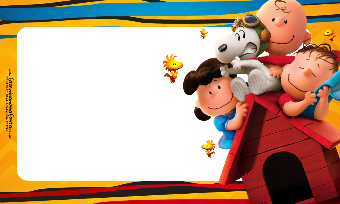 Etiqueta Volta as Aulas Snoopy 3