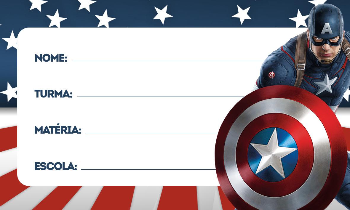 etiquetas volta as aulas capitao america 2
