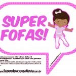 Plaquinhas Divertidas Bailarina Afro