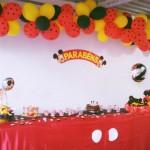 Mesa de Doces Festa Mickey Tradicional do Guilherme