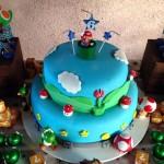 Bolo Festa Mario Bros do Carlos